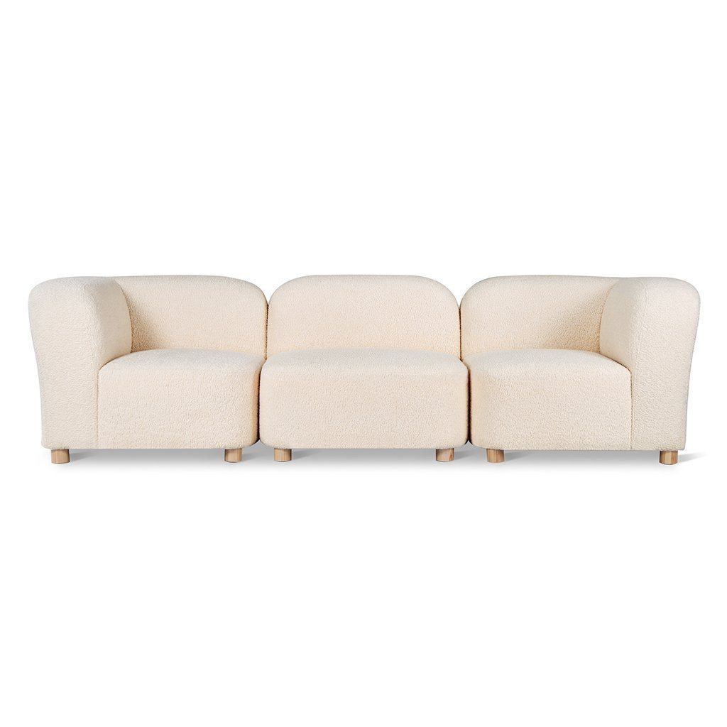 Gus Circuit Modular 3-pc Sofa Himalaya Cloud