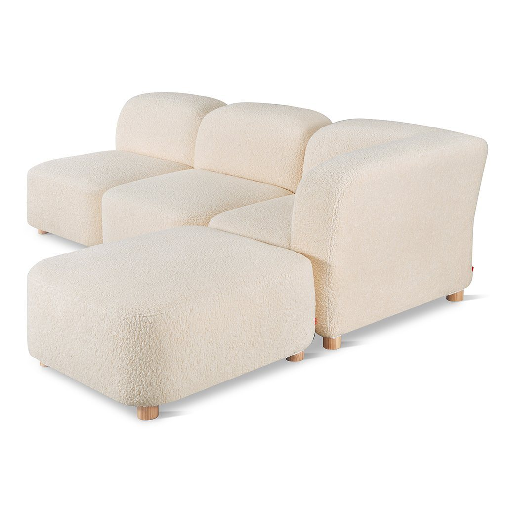 Gus Circuit Modular 4-pc Sectional Himalaya Cloud