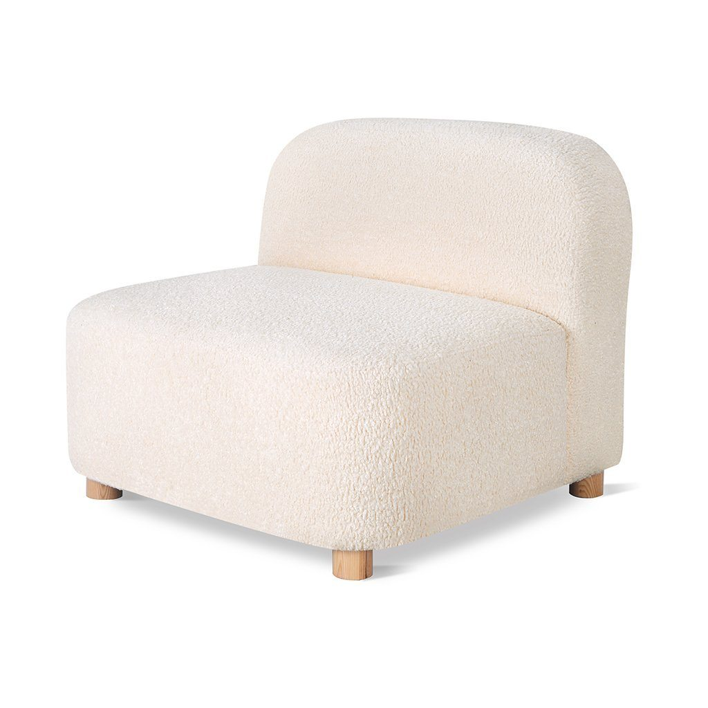 Gus Circuit Modular Armless Chair Himalaya Cloud