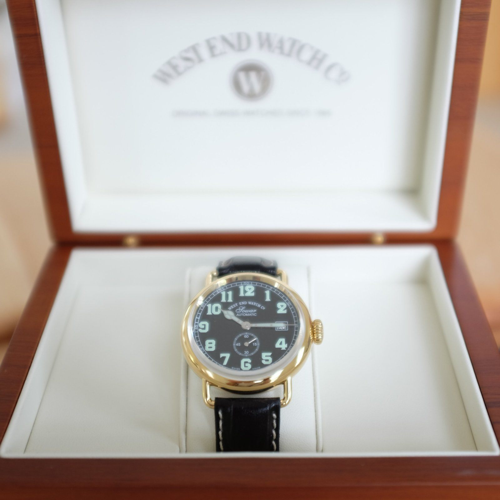 West End Watch Co. Sowar 1916 - Black Dial, Gold PVD Case