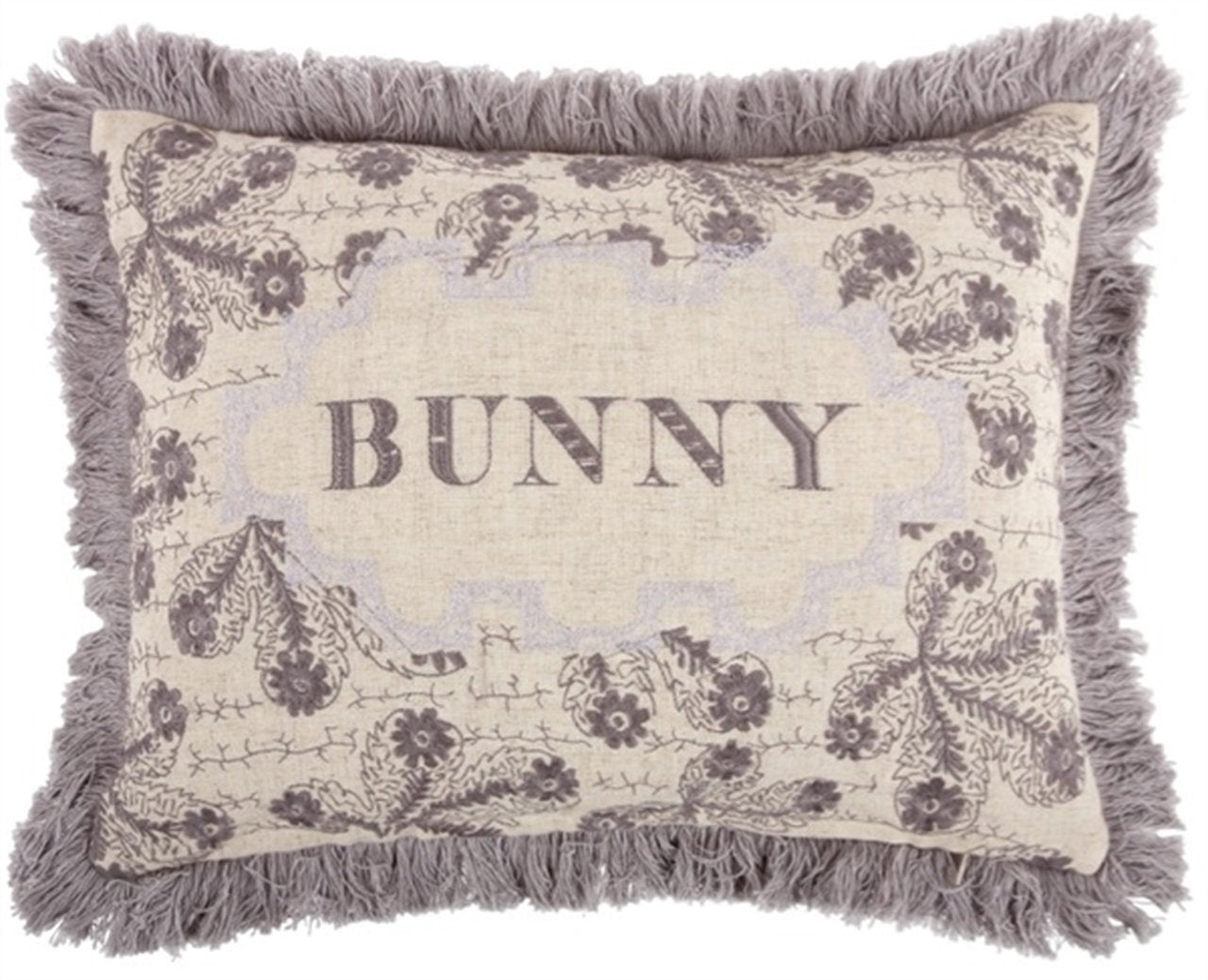 Thomas Paul Bunny Embroidered Pillow