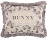 Thomas Paull Bunny Embroidered Pillow