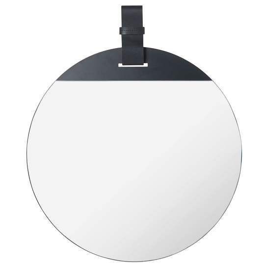 Ferm Living Enter Mirror Small Black Leather
