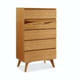 Greenington Azara Five Drawer Chest Caramelized