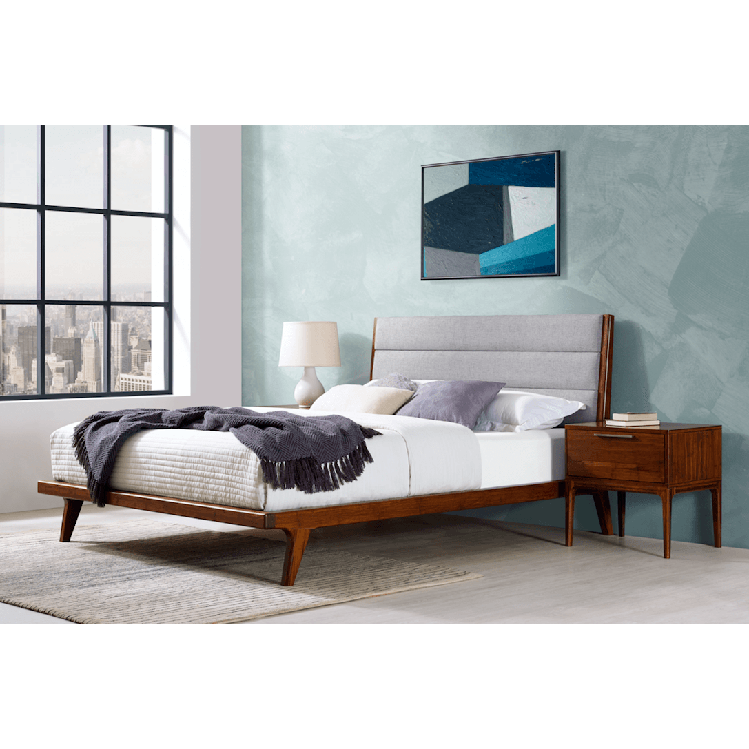 Greenington Mercury Upholstered Platform Bed Exotic Queen