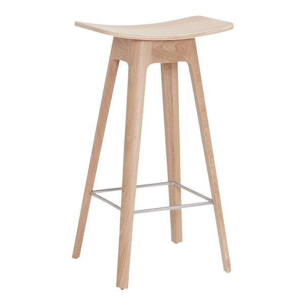 ANDERSEN HC1 Bar Stool Oak - White Lacquer Bar Height Oak - White Lacquer