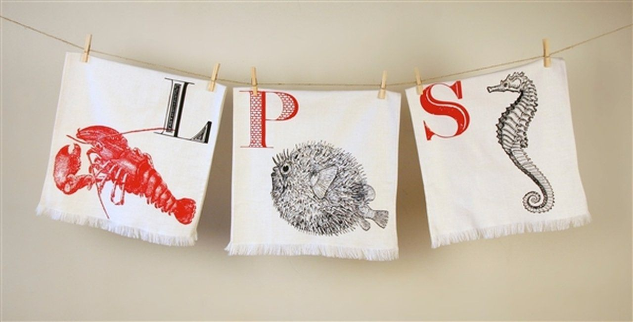 Thomas Paul Alphabet Hand Towel Set