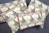 Thomas Paul Octopus Jaquard Pillow 12x20