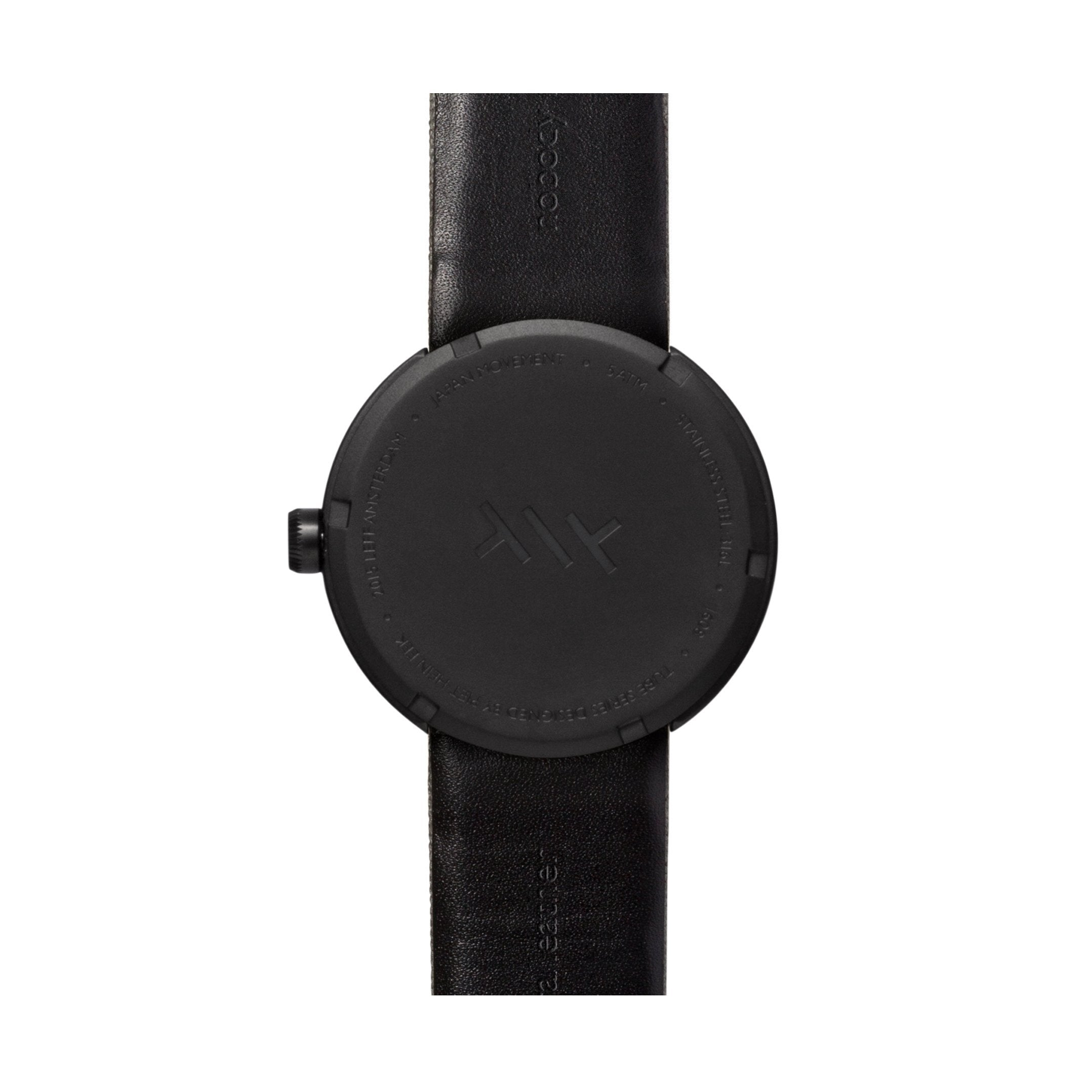 LEFF Amsterdam D42 Watch Steel / Black Leather Strap