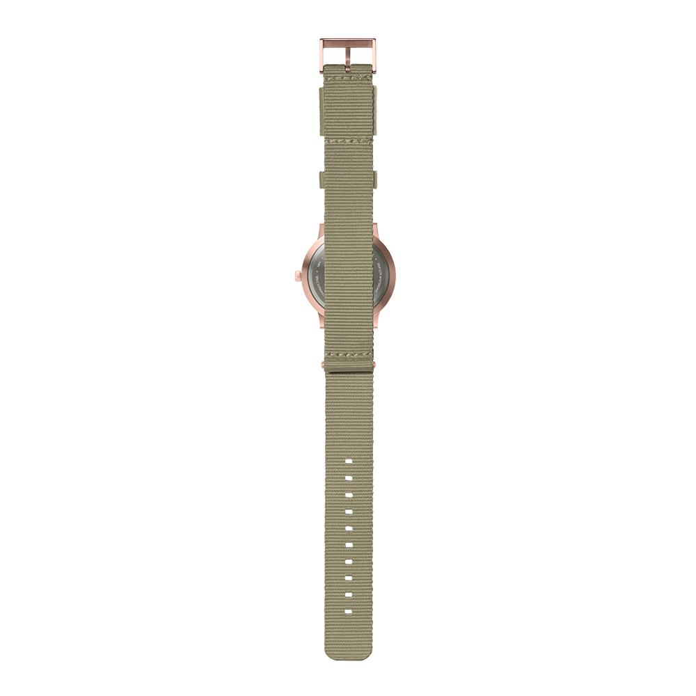 LEFF Amsterdam T40 Watch Steel / Black Leather Strap