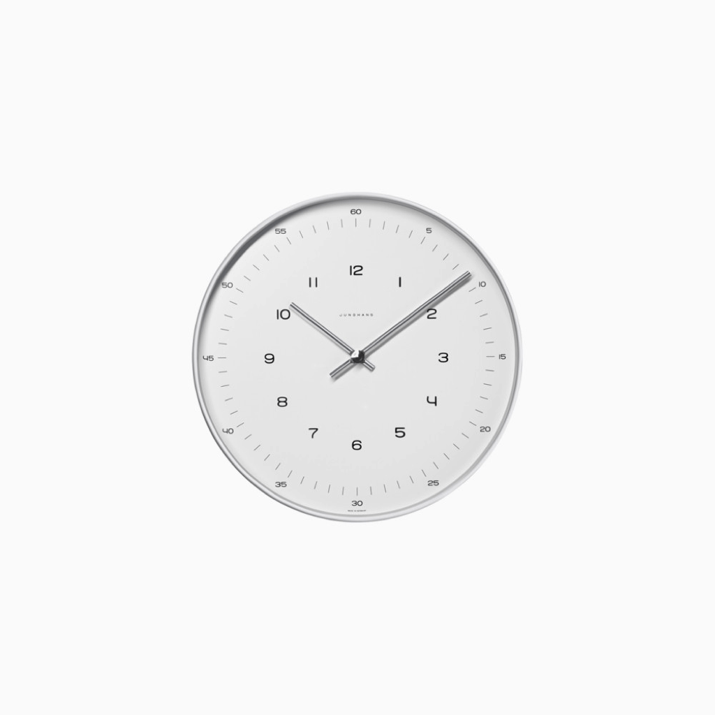 Junghans Max Bill - Wall Clock with Numbers Ø 11.8""