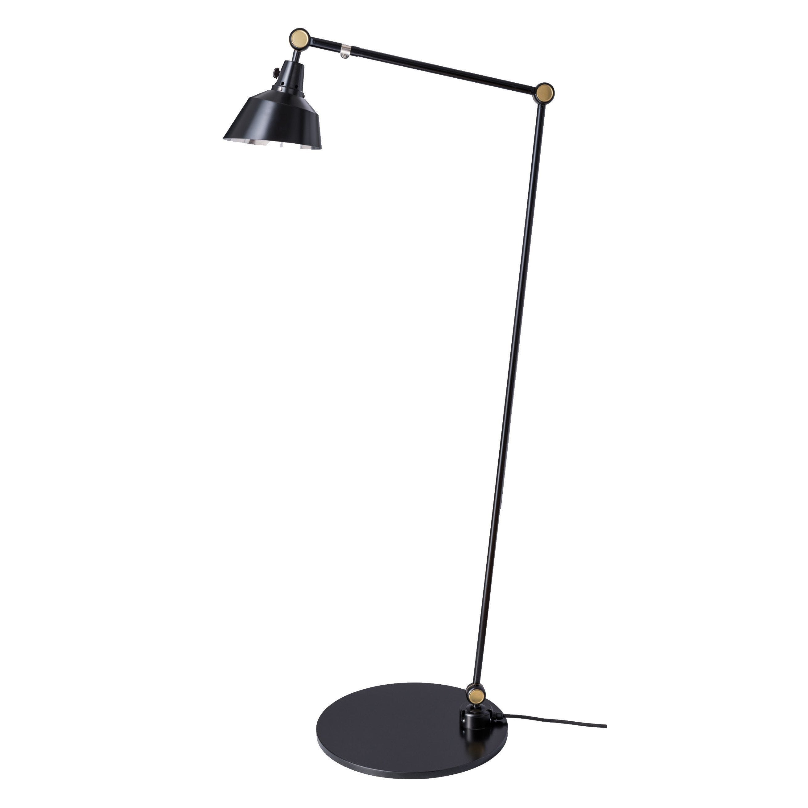"Midgard Modular 556 Floor Lamp Black 1st arm 63"" - 2nd arm 15.75"""