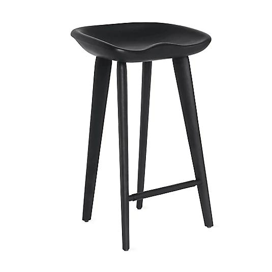 BassamFellows Tractor Stool - Counter Walnut