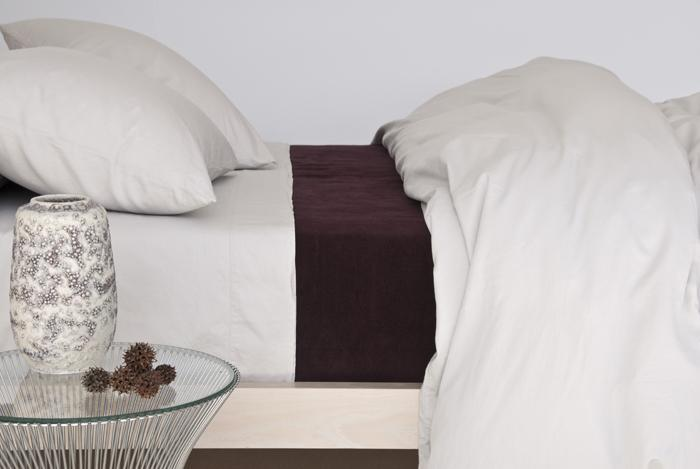 Area Perla Fitted Sheet Celeste Full