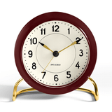Arne Jacobsen Station Alarm Clock Burgundy