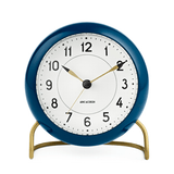 Arne Jacobsen Station Alarm Clock Petrol Blue