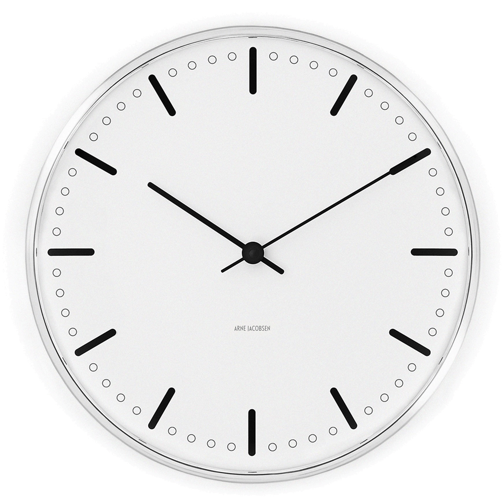 "Arne Jacobsen City Hall Wall Clock 11.4"" Ø"