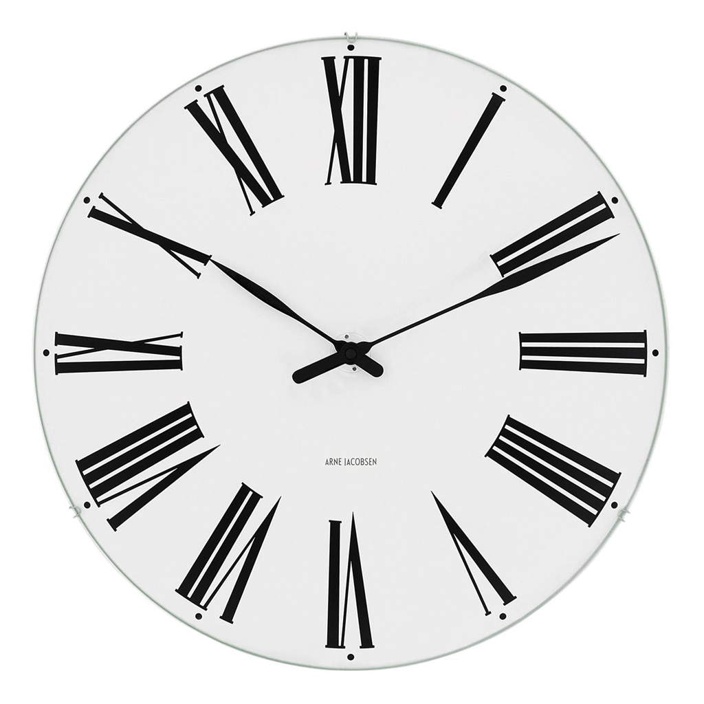 "Arne Jacobsen Roman Wall Clock 8.3"" Ø"