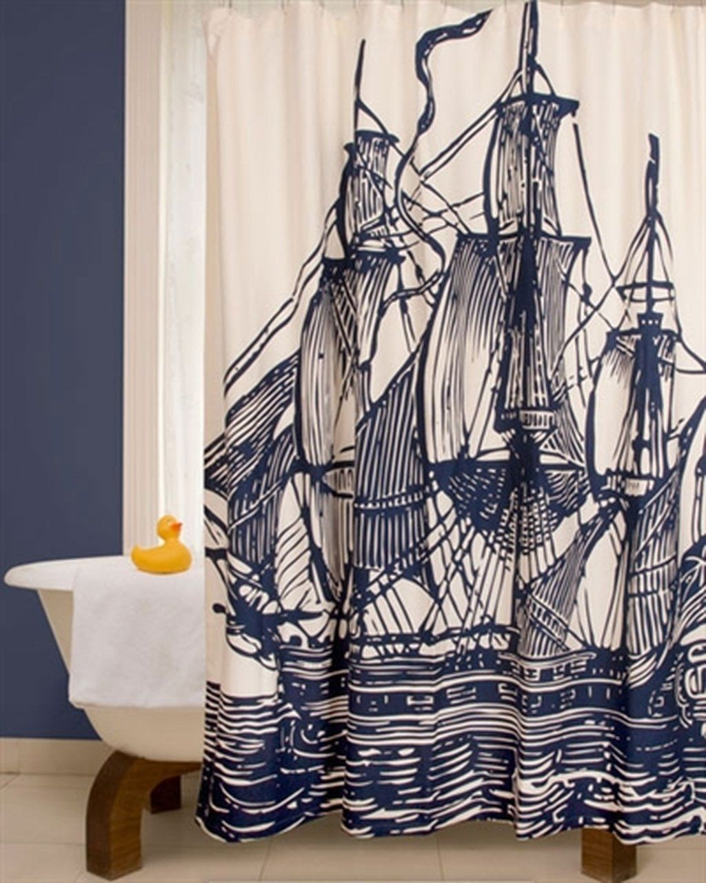 Thomas Paul Ship Shower Curtain