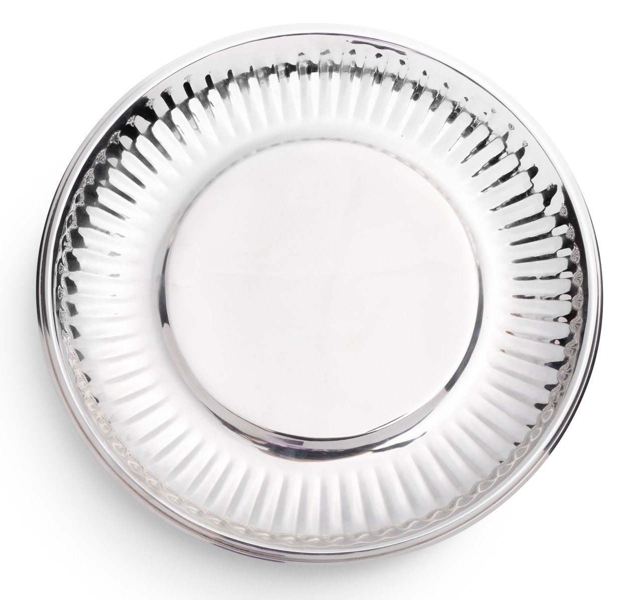 "Siren Song ""Paper Plate"" in Stainless Steel - Small 