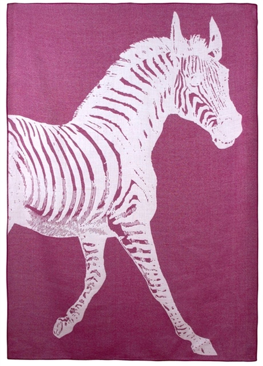 Thomas Paul Zebra Alpaca Throw Black