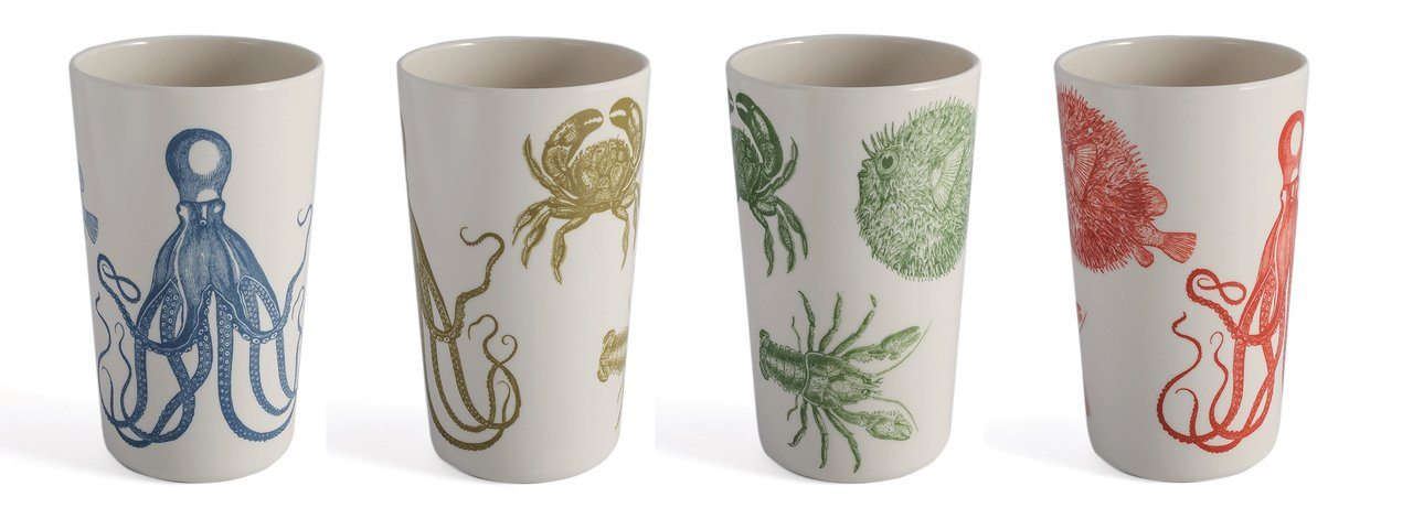 Thomas Paul Sea Life Tumblers Set of 4