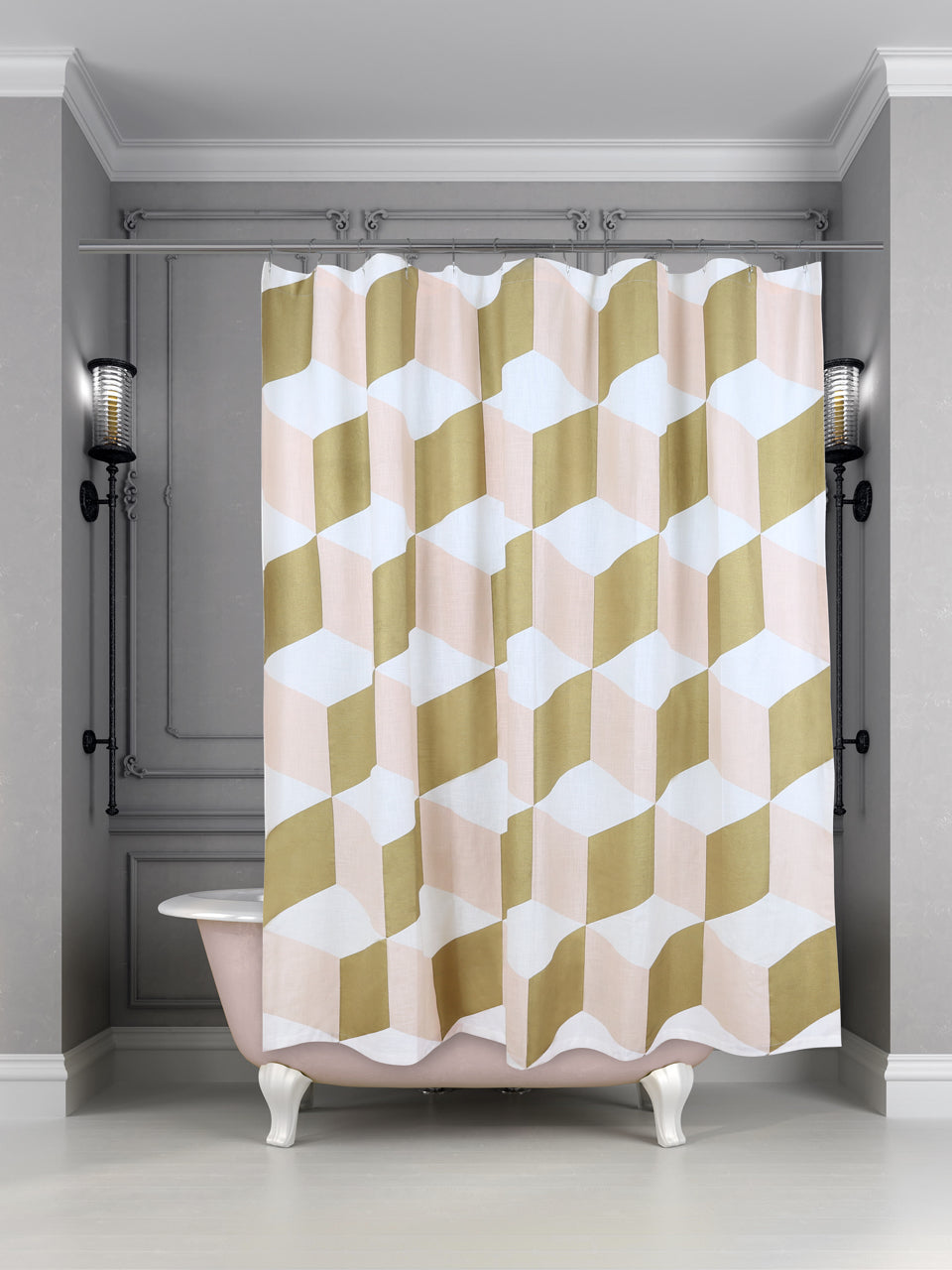 Siren Song Palazzo Shower Curtain - Shell