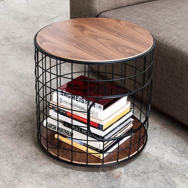 GUS Wireframe End Table Oak