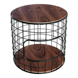 GUS Wireframe End Table Walnut