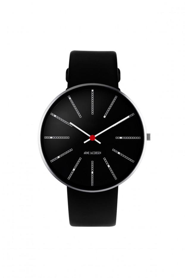 Arne Jacobsen Banker's 40mm Wrist Watch - Black