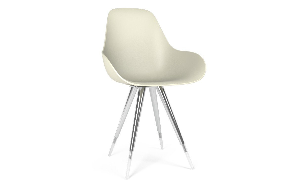 Kubikoff Angel Dimple Closed Chair White No Seat Pad
