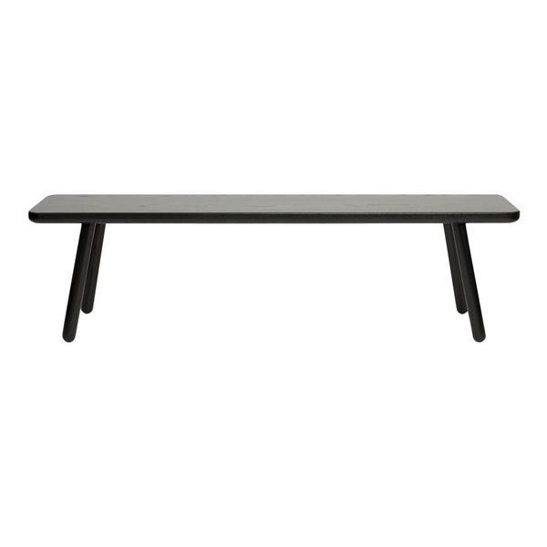 "Another Country Bench One Ash - Black Painted 55"" W x 13.75"" D x 17.38"" H"