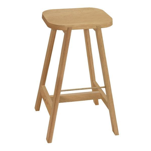 "Another Country Bar Stool Three Beech 18.6"" W x 17.7"" D x 25.6"" H"