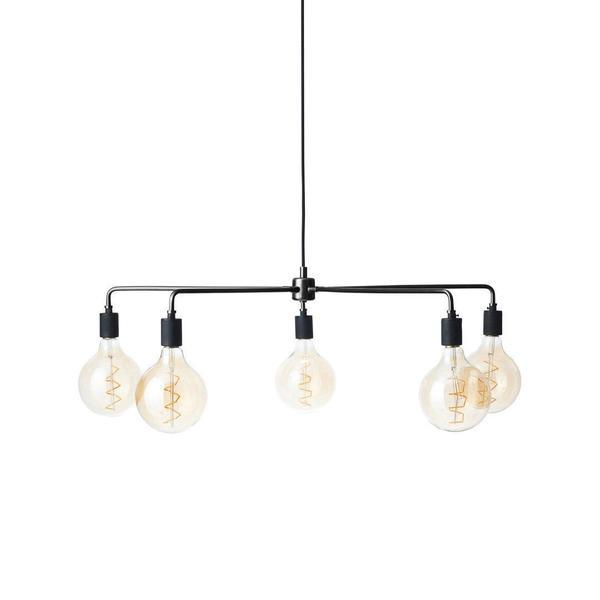 Menu Tribeca Chambers Chandelier Small (30 in) Black (No Bulbs)