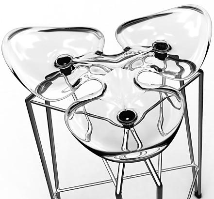Kubikoff Diamond Bar Stool Chrome