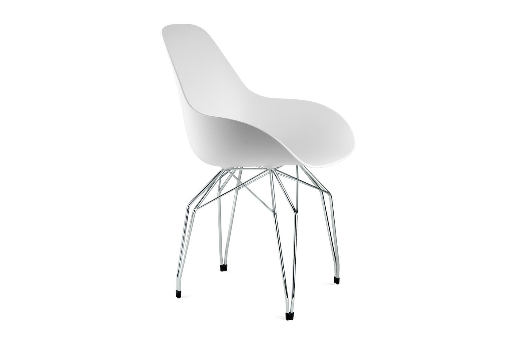 Kubikoff Diamond Dimple Closed Chair White Chromium Plated