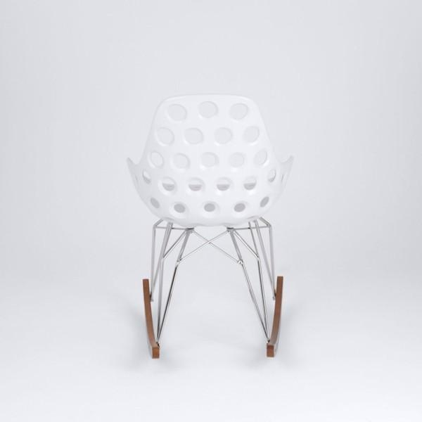 Kubikoff Diamond Dimple Hole Rocking Chair No Seat Pad