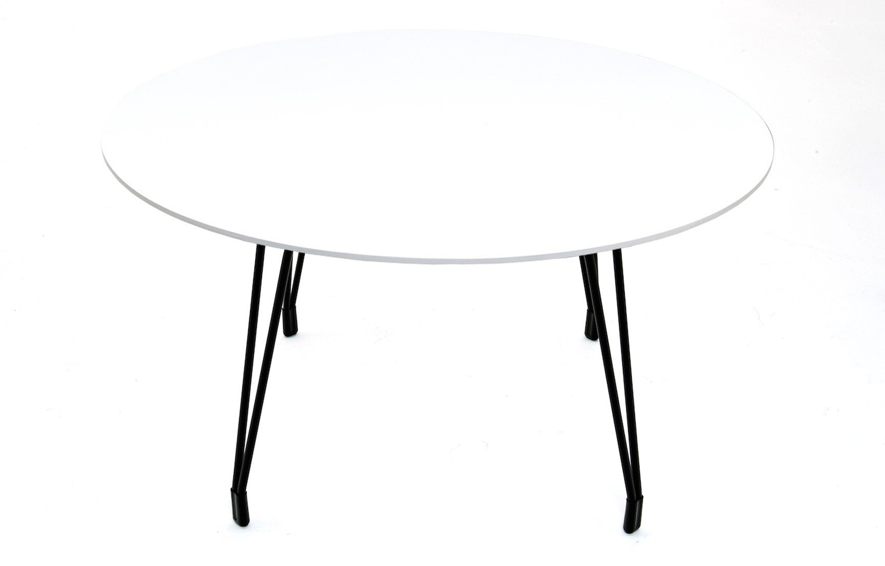 Kubikoff Diamond Dining Table Chrome White Round Glass Top