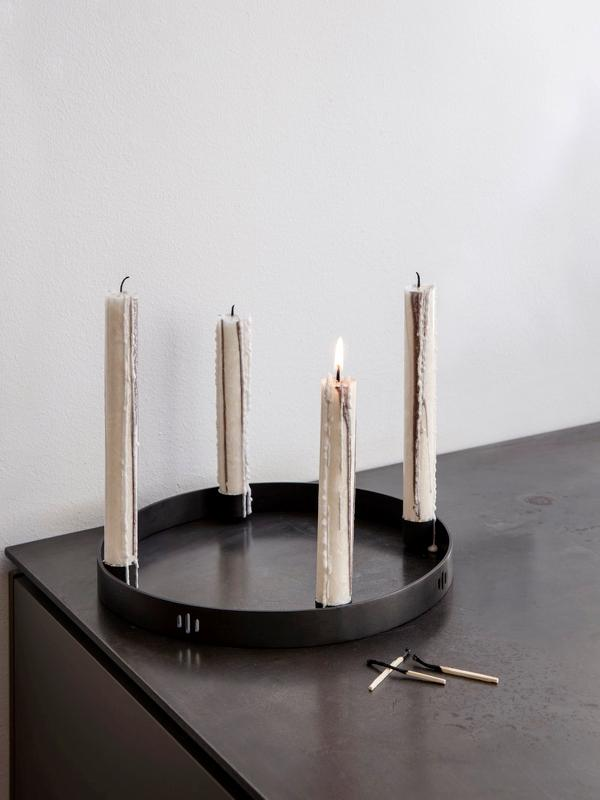 Ferm Living Circle Candle Holder Small Black