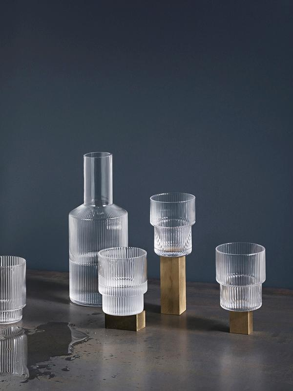 Ferm Living Ripple Carafe Glass