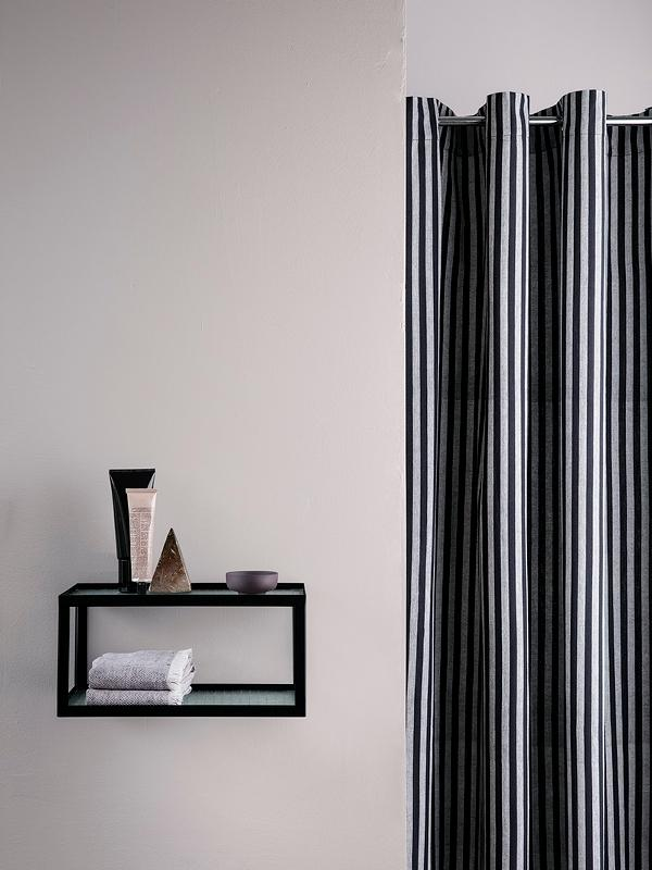 Ferm Living Chambray Shower Curtain - Striped