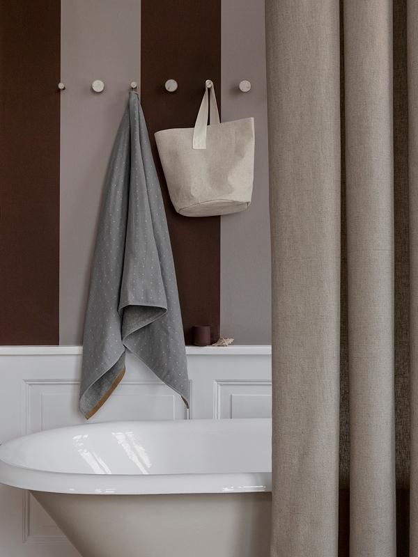 Ferm Living Chambray Shower Curtain - Sand