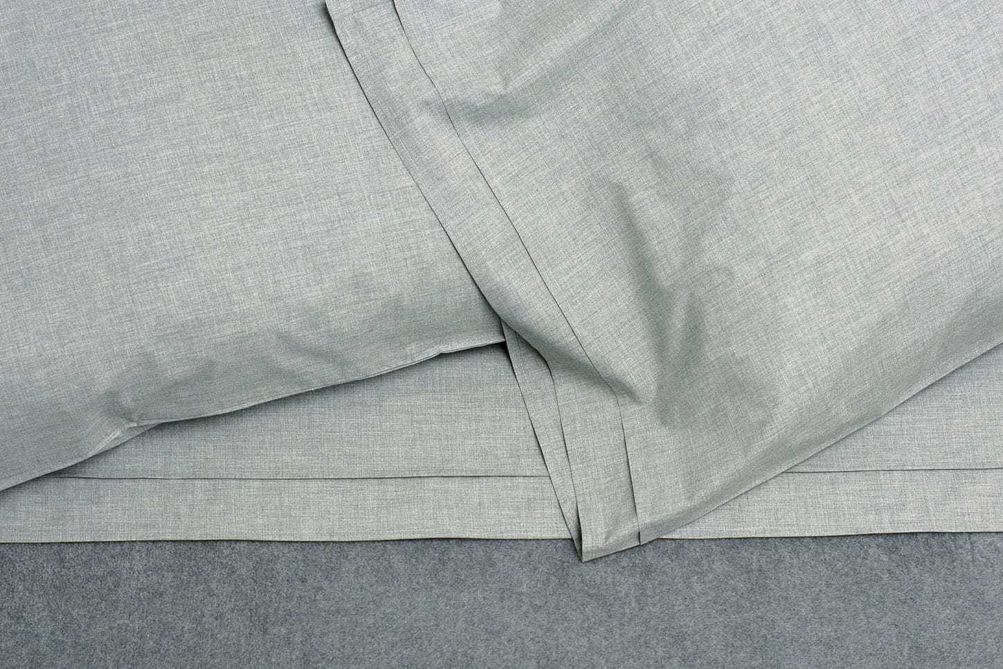 Area Heather Duvet Cover Cement Twin