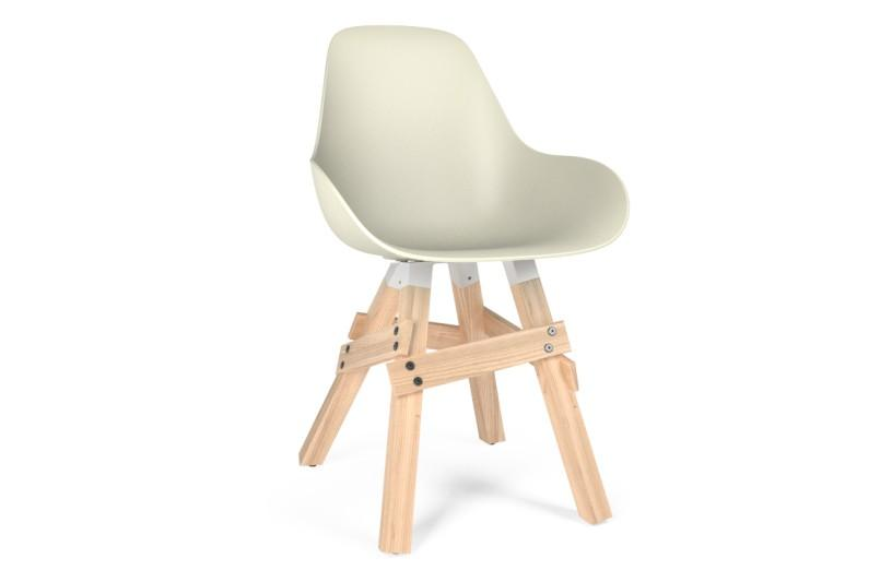 Kubikoff Icon Dimple Closed Chair White No Seat Pad