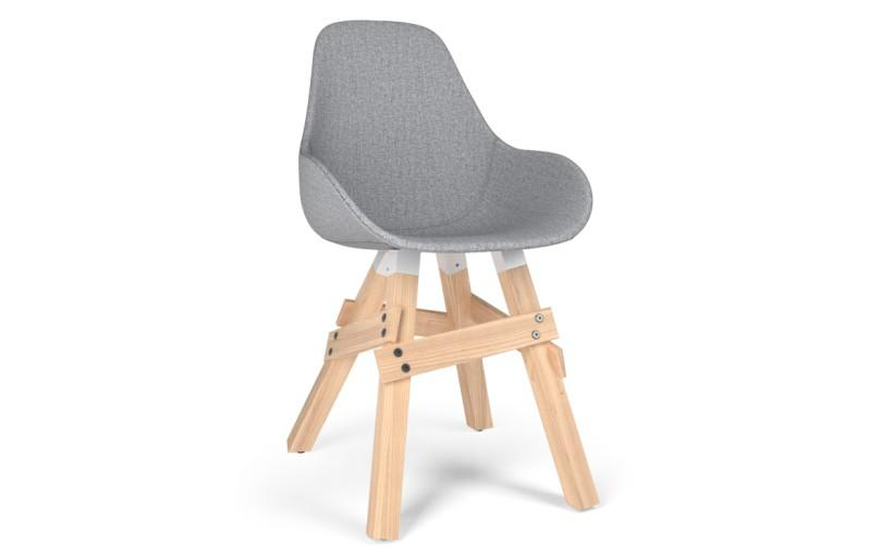 Kubikoff Icon Dimple Pop Chair Grey Wool No Seat Pad