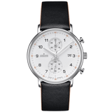 Junghans Form C - Quartz Chronograph Black Band Numerals