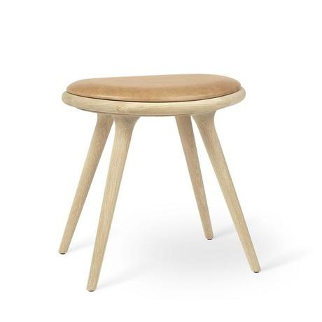 Mater Low Stool Beech - Dark Stained