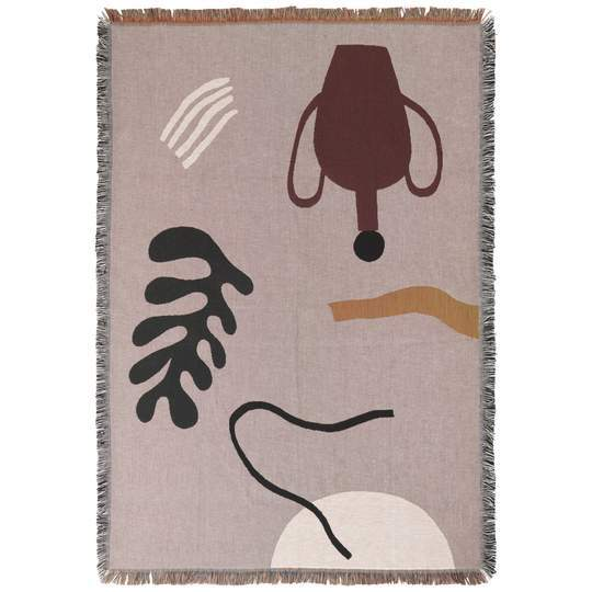 Ferm Living Mirage Blanket - Grey