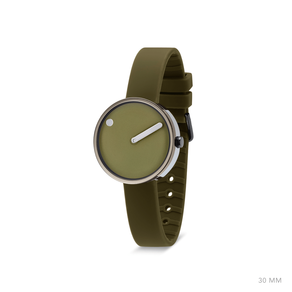Picto 30mm Khaki - Polished Grey