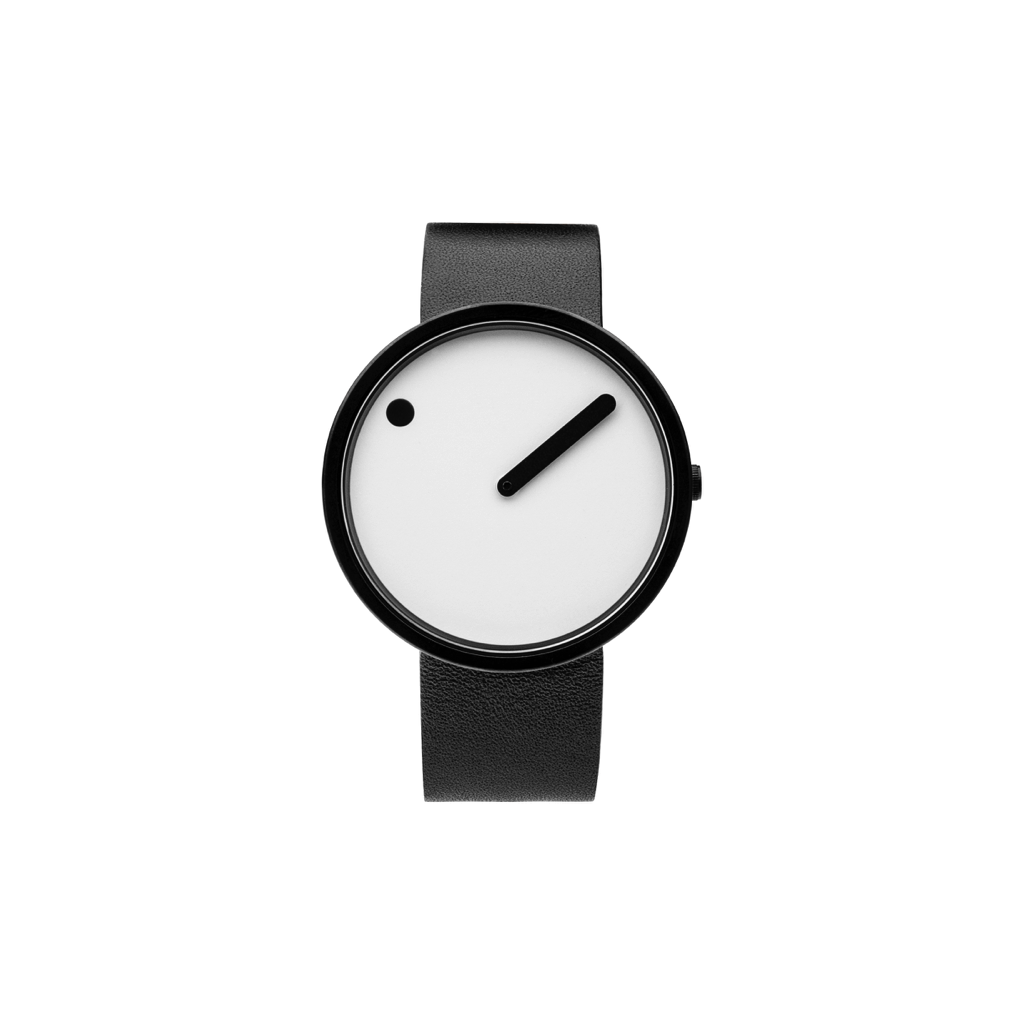 Picto 40mm White - Matte Black